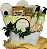 Art of Appreciation Gift Baskets Peace and Relaxation Eucalyptus Spa Bath and Body Gift Set  $49.99