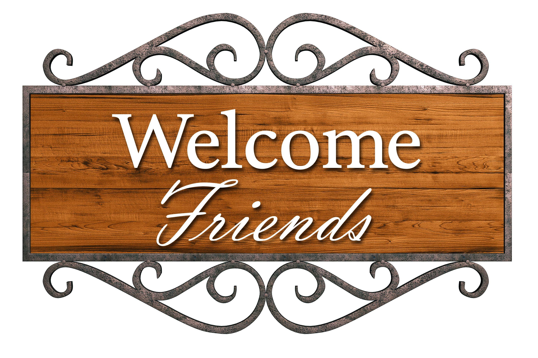 welcome friends wooden sign | FUMC clip art | Pinterest ...