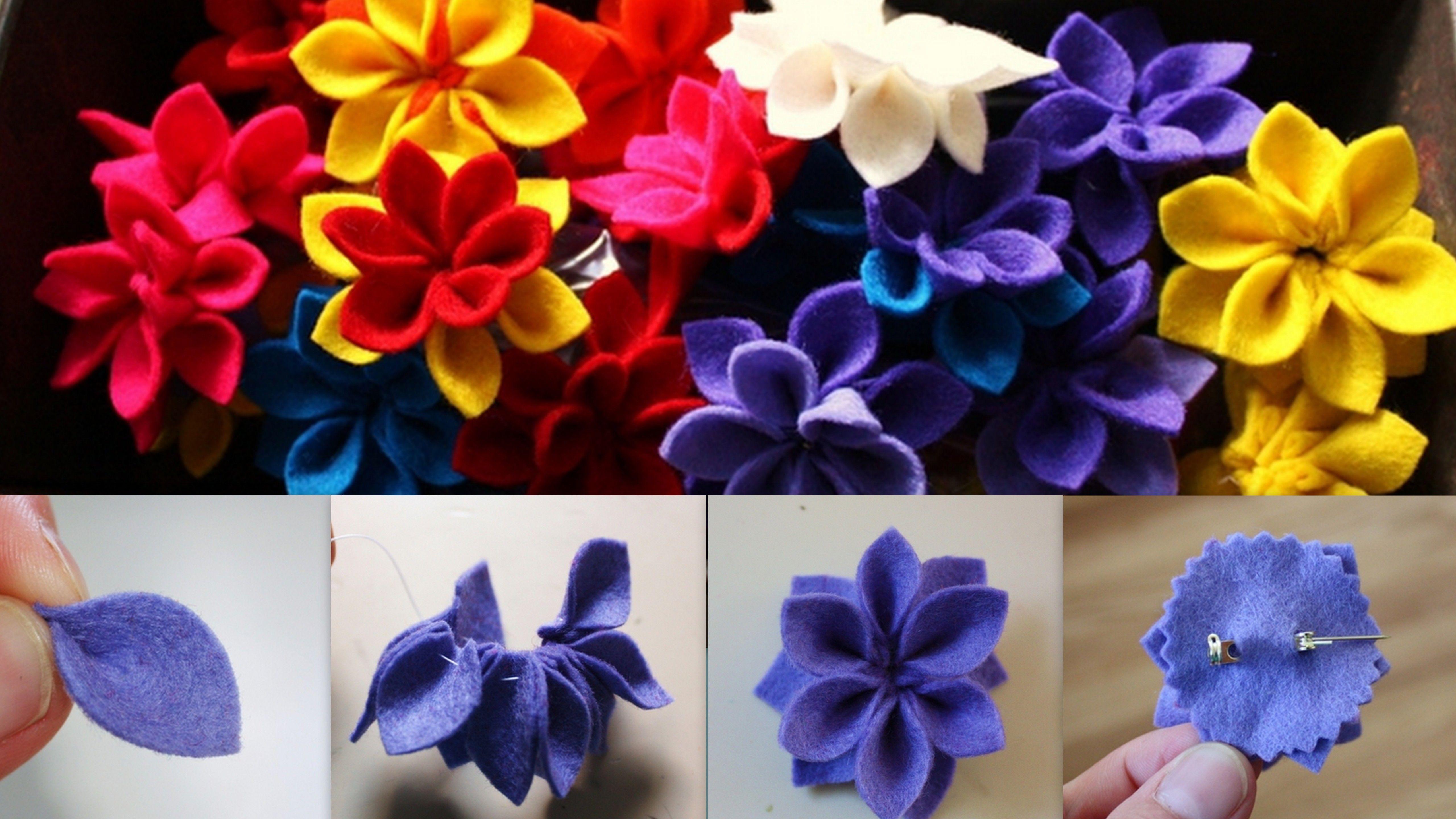Pin On Kwiaty Z Filcu