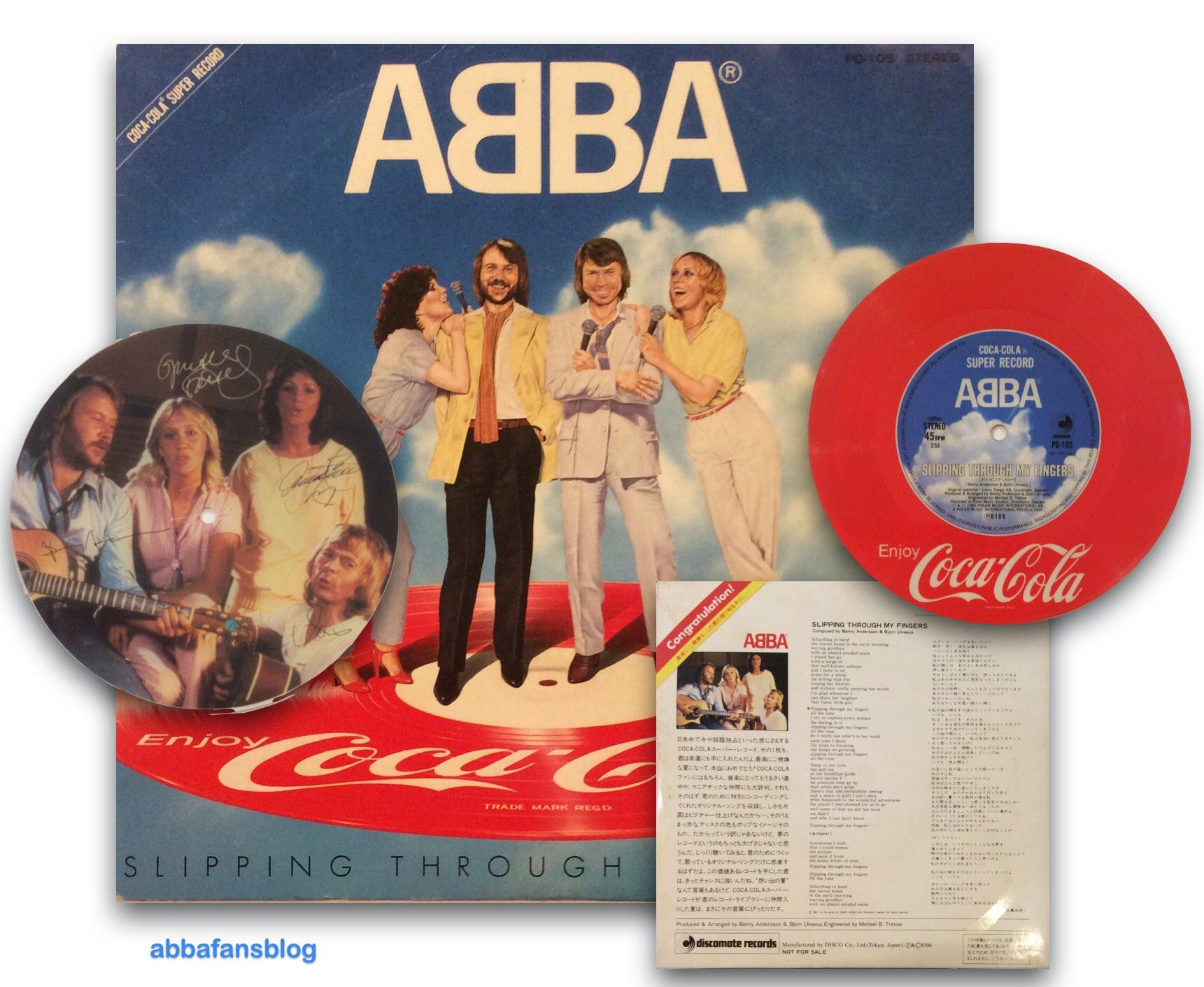 """ABBA Fans Blog: Collection - """"Slipping Throught My Fingers"""" Picture Disc"""