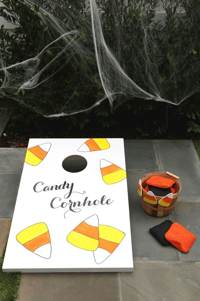 Linen, Lace,  Love Kid\u0027s Halloween Party Candy Cornhole game - halloween party ideas games