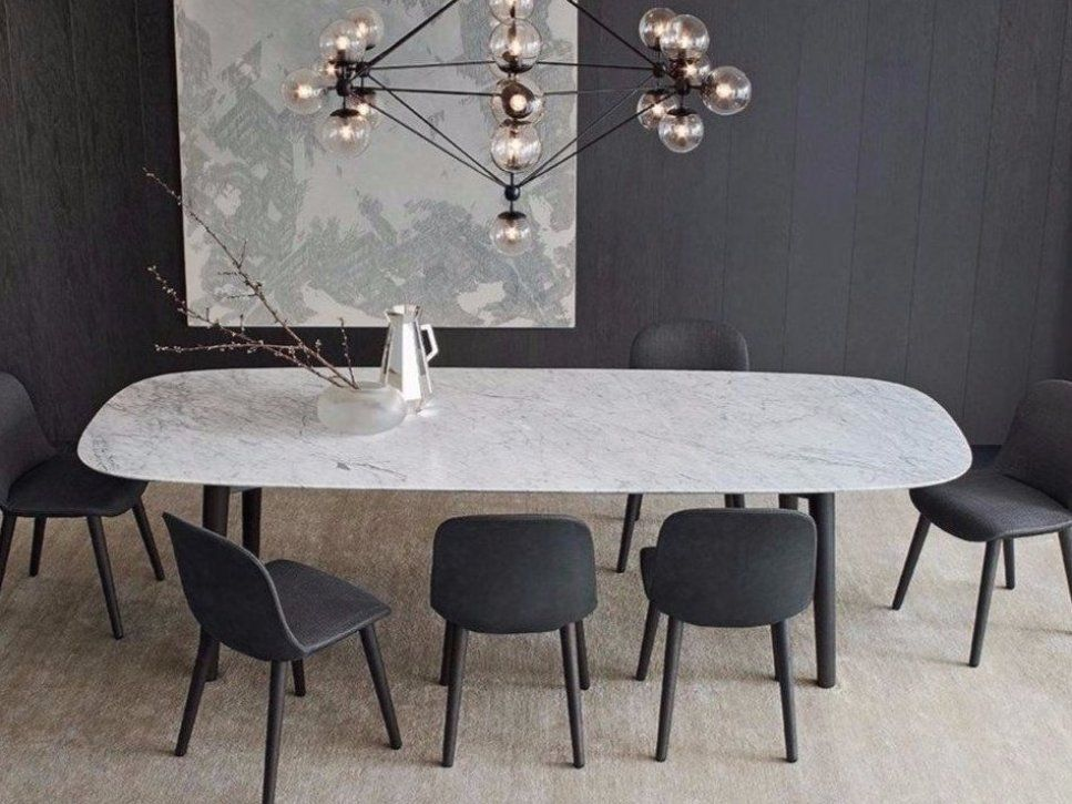 Rectangular Marble Table Mad Dining Table Mad Collection By Poliform Design Marcel Wanders Ta In 2020 Dining Table Marble Modern Dining Room Dining Room Design Modern