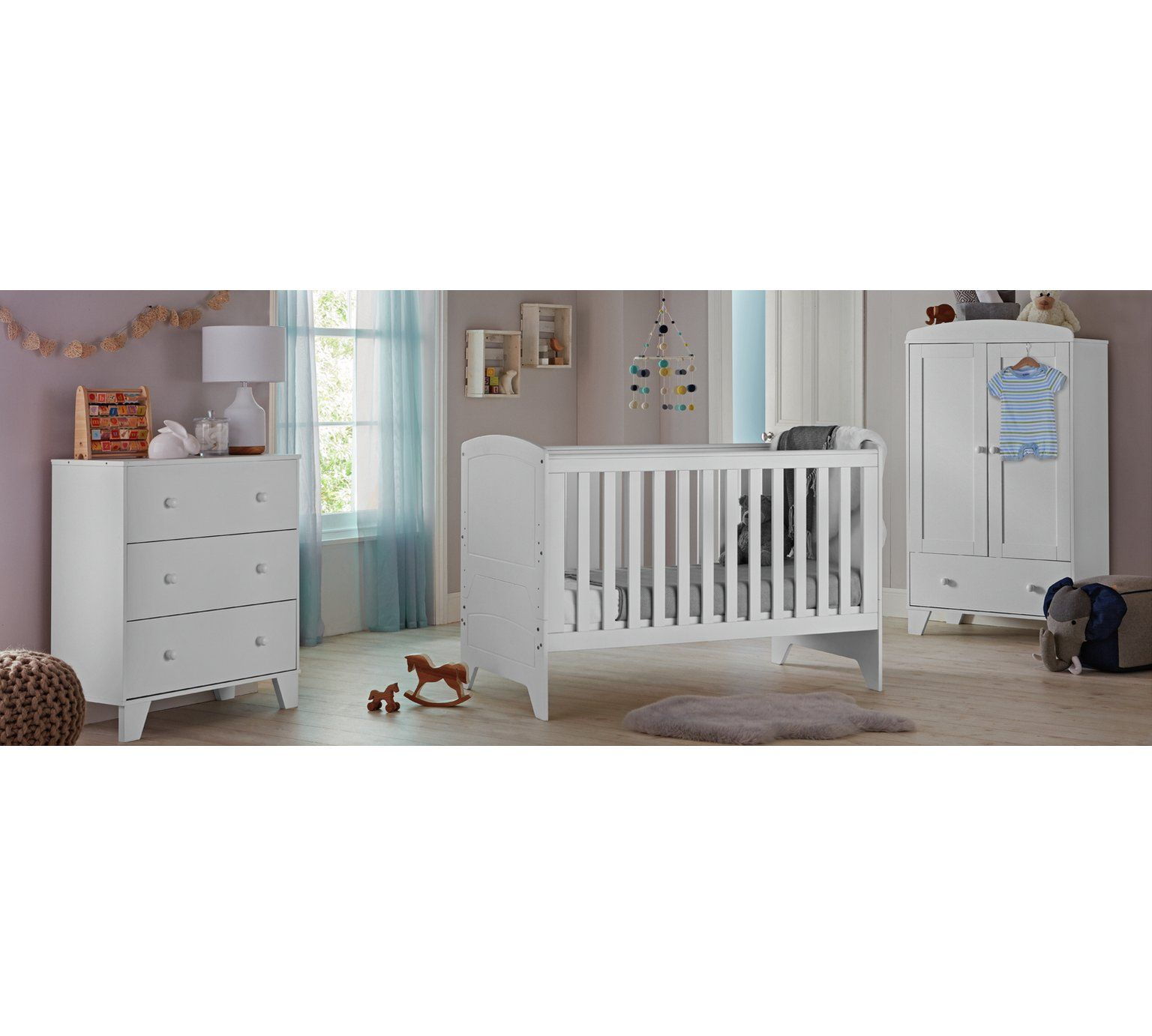 Cuggl Oxford 3 Piece Furniture Set White At Argos Co