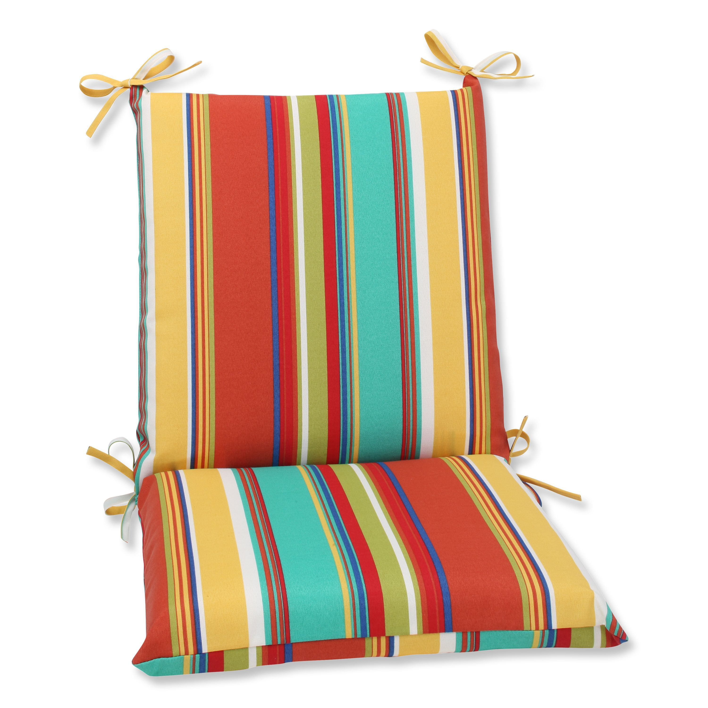 Pillow perfect outdoor westport spring squared corners chair cushion
