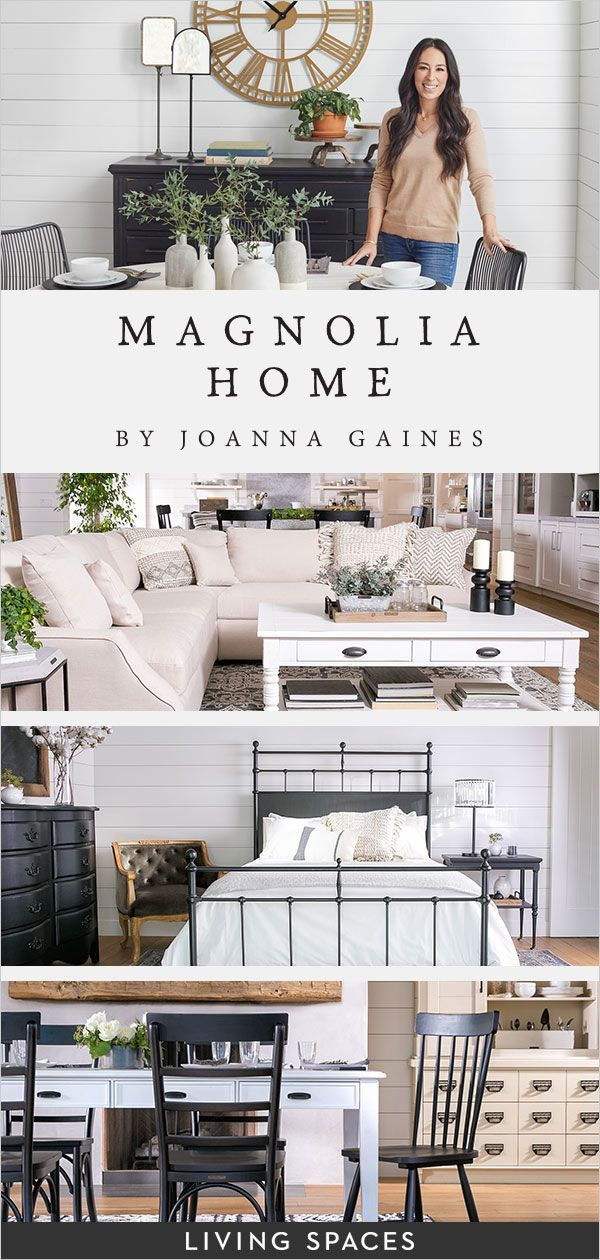 magnolia home by joanna gaines furniture collections at living spaces joanna has designed. Black Bedroom Furniture Sets. Home Design Ideas