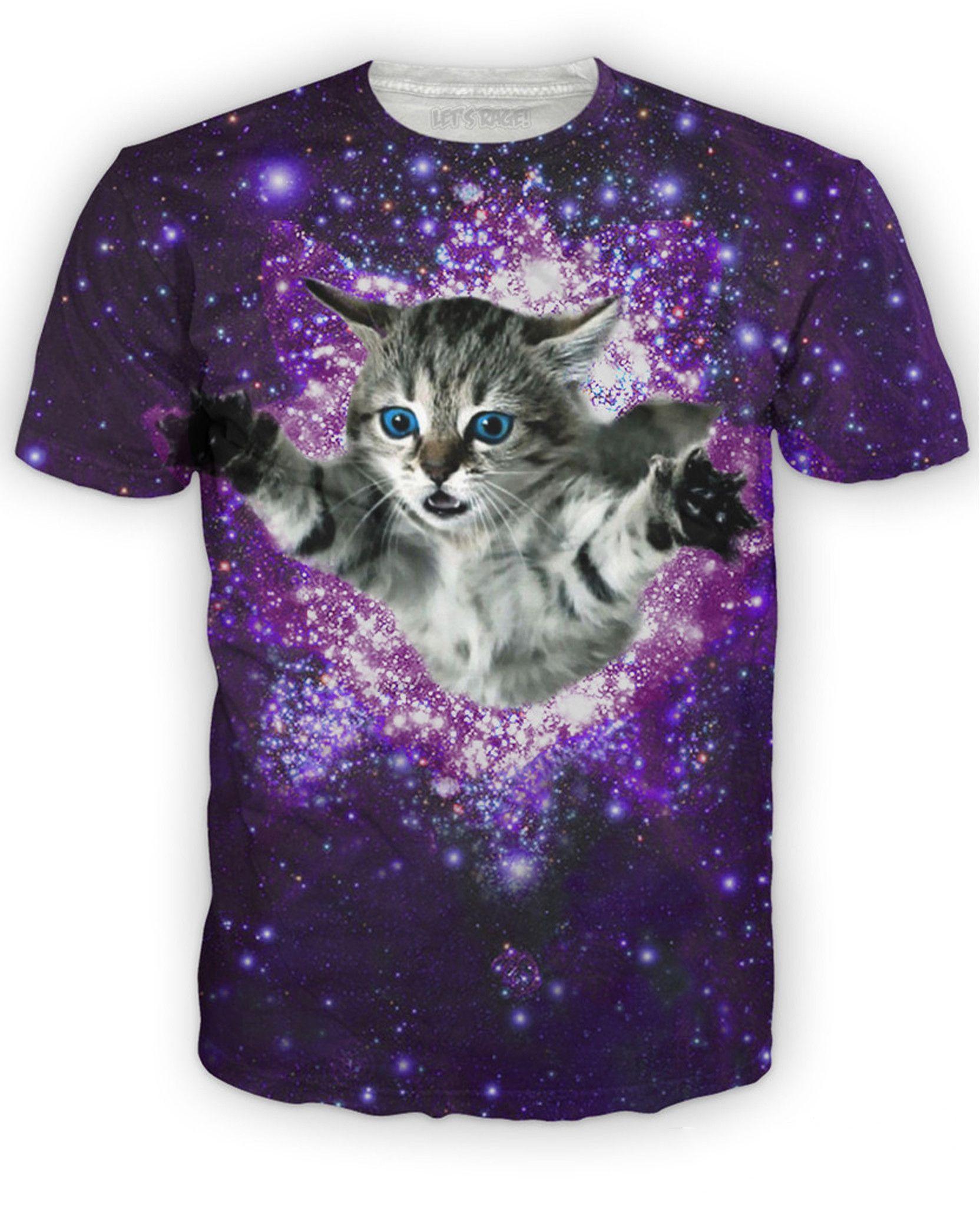 Kitty Glitter T Shirt Summer Tee Shirts Funny Outfits Animal Tshirt