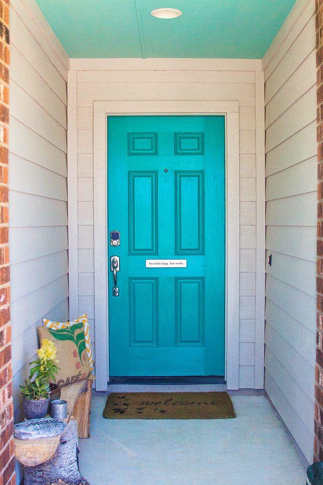turquoise door & turquoise door | House ideas | Pinterest | Colori Turchese e ... pezcame.com