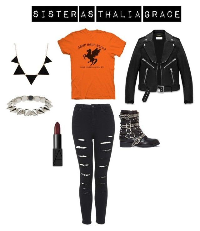 """""""Halloween Costume"""" by piperwrite ❤ liked on Polyvore featuring Yves Saint Laurent, Jeffrey Campbell, CO, CC SKYE and NARS Cosmetics"""