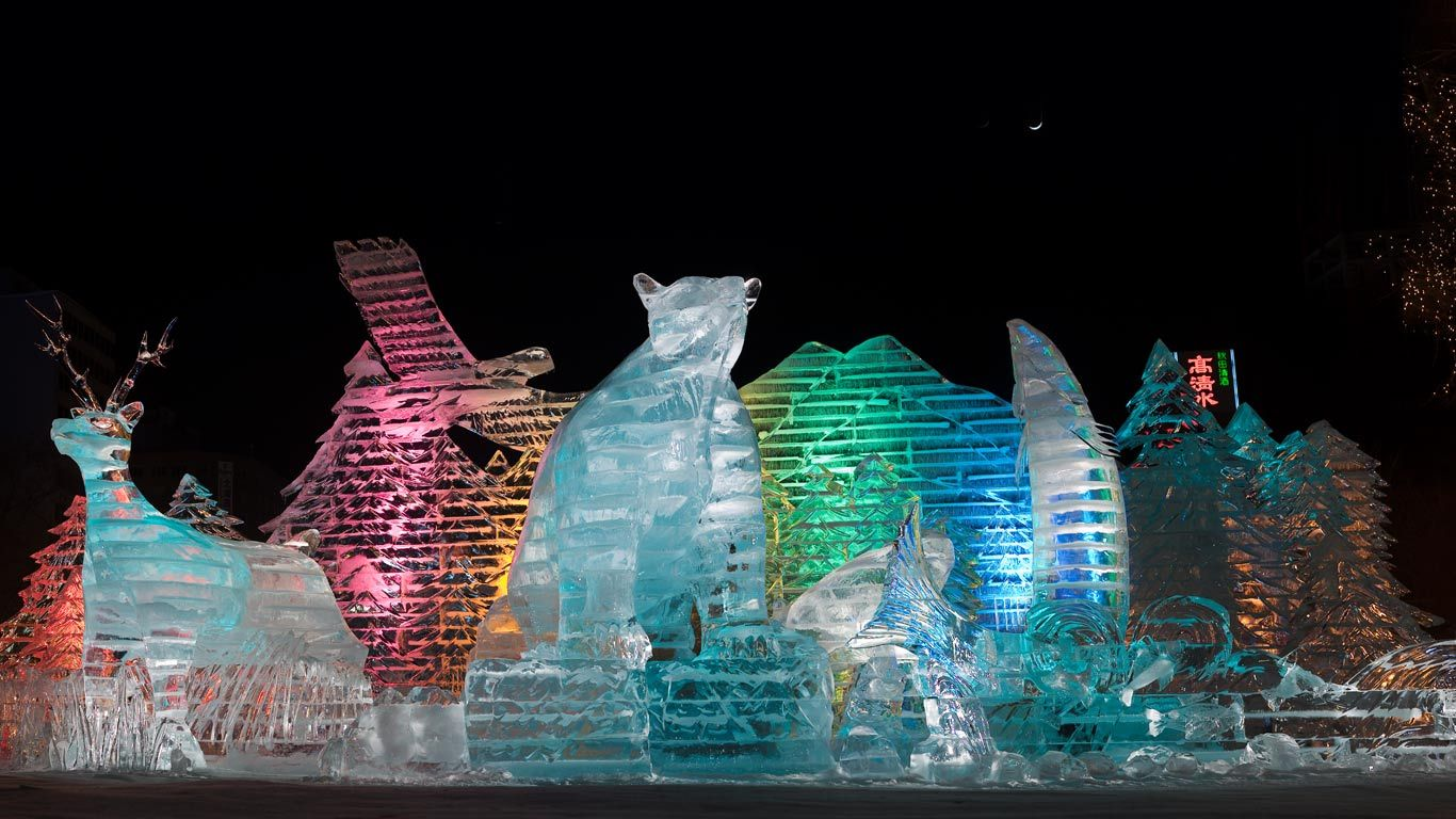 ice sculptures at sapporo winter festival japan shayne. Black Bedroom Furniture Sets. Home Design Ideas