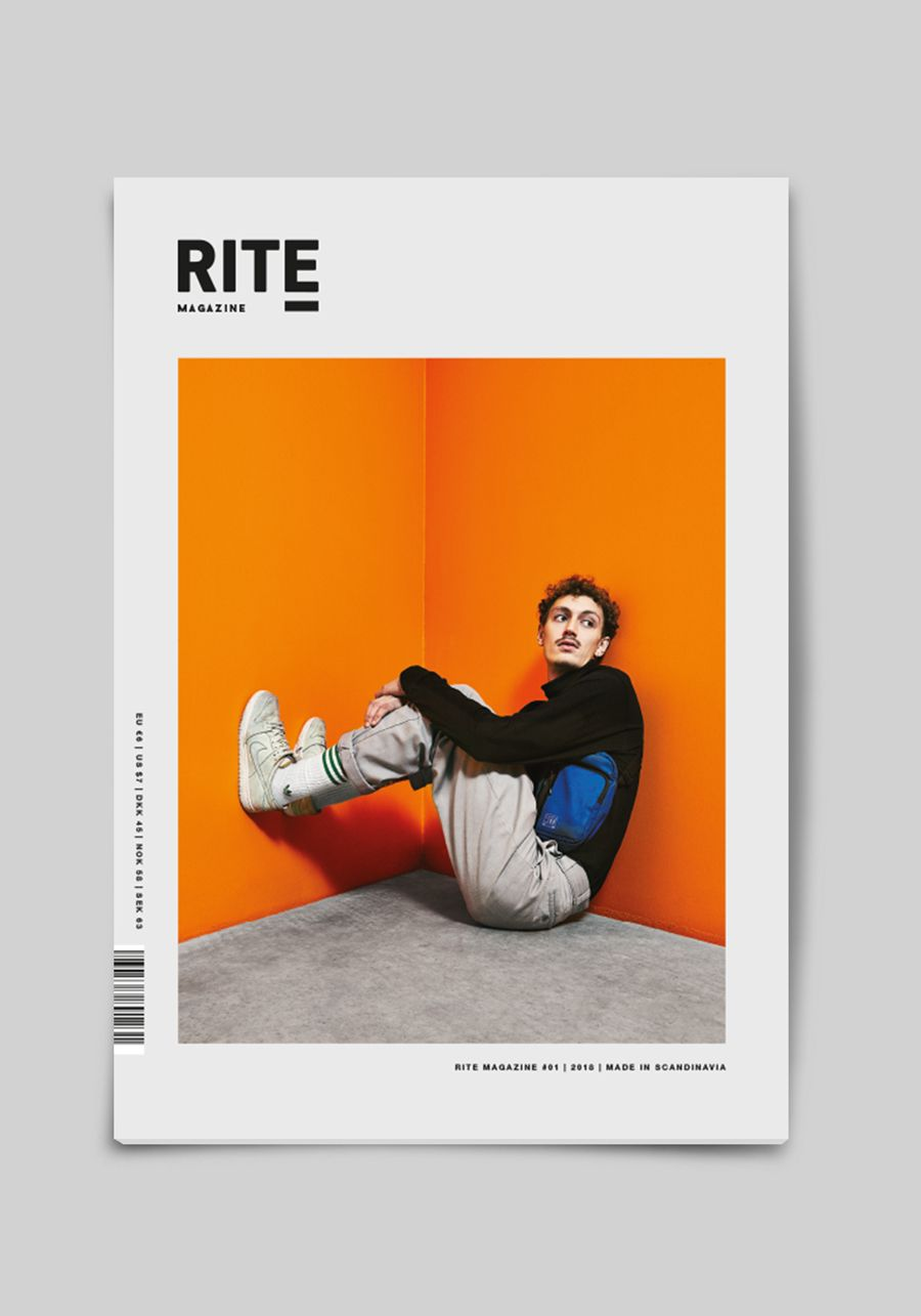 Front Cover - RITE Magazine | Designed by ON!AD Graphic Design Agency, Denmark.