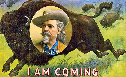 """Buffalo Bill Cody, from his ranch in Nebraska, immediately grasped opportunity in the Columbian exposition. His """"Buffalo Bill's Wild West and Congress of Rough Riders of the World"""" show had recently returned from a  hugely successful tour of Europe."""