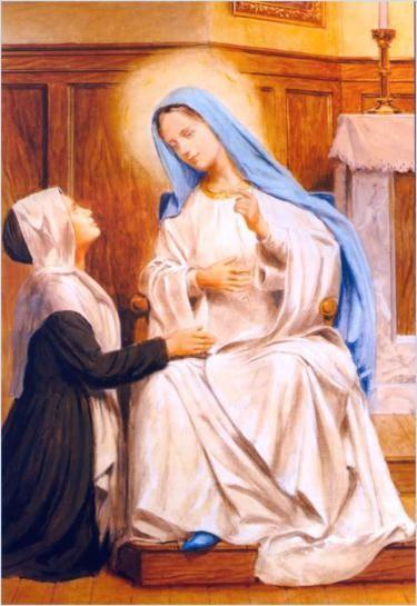 b93ba71b592 18 de Julio de 1830  Primera Aparición de la Virgen a Santa Catalina  Labouré.