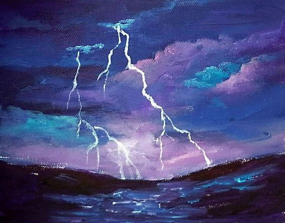 Storm Clouds In A Landscape Acrylic Painting Lessons For
