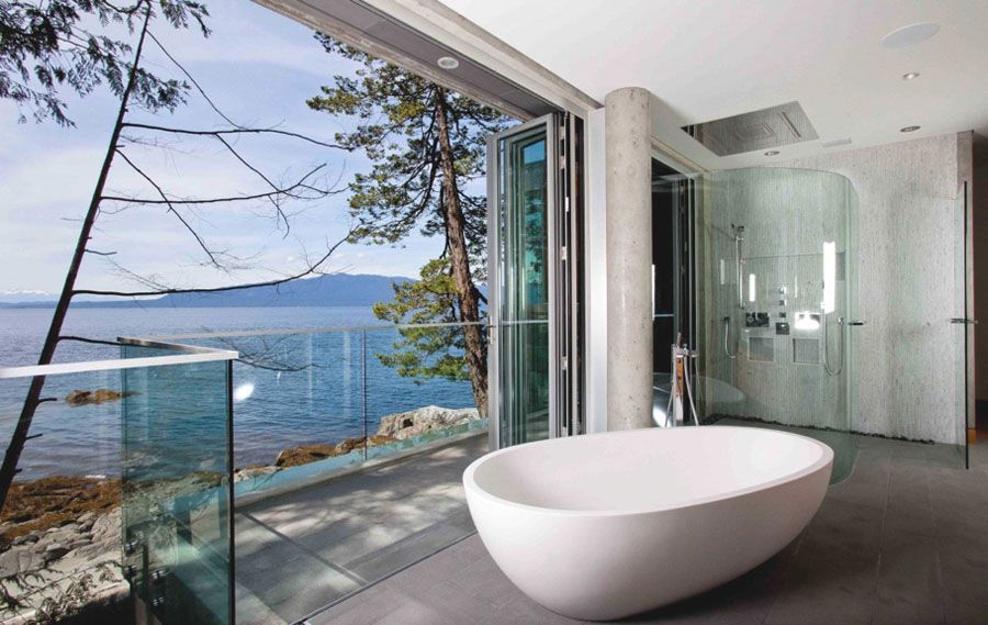 bathroom with water view | design | pinterest | large bathrooms