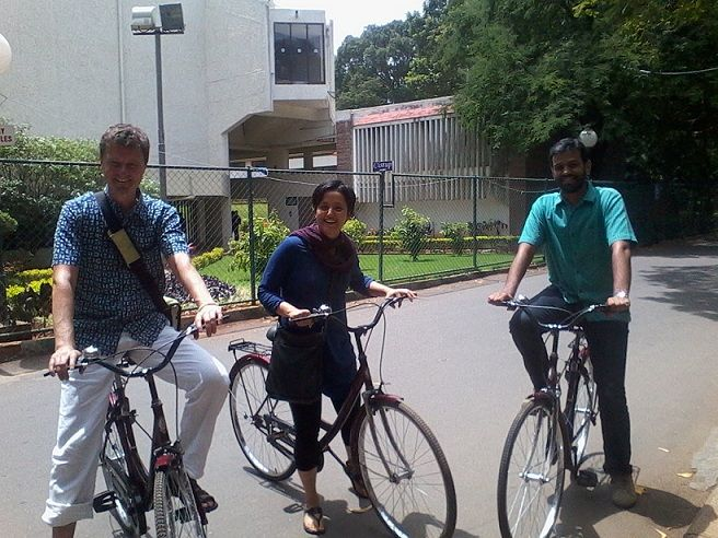 A public cycle sharing initiative takes off in Bangalore.