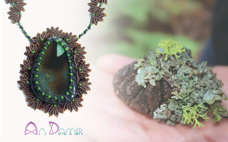 This lovely handcrafted necklace inspired by the Mother Nature. Imagine an untouched, old forest with timeless trees. then lean closer and look at the micro wor