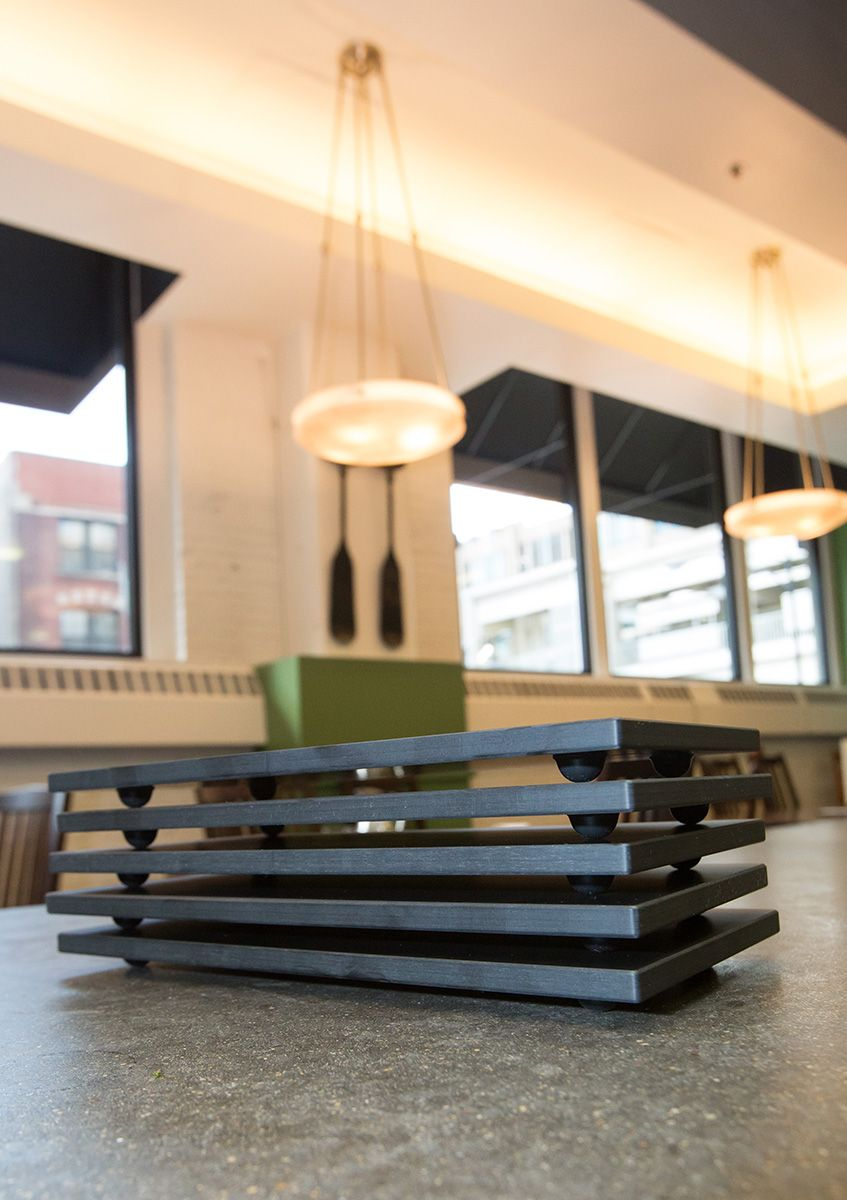 Sushi plates made of fenix ntm compact material - Commercial interior design chicago ...