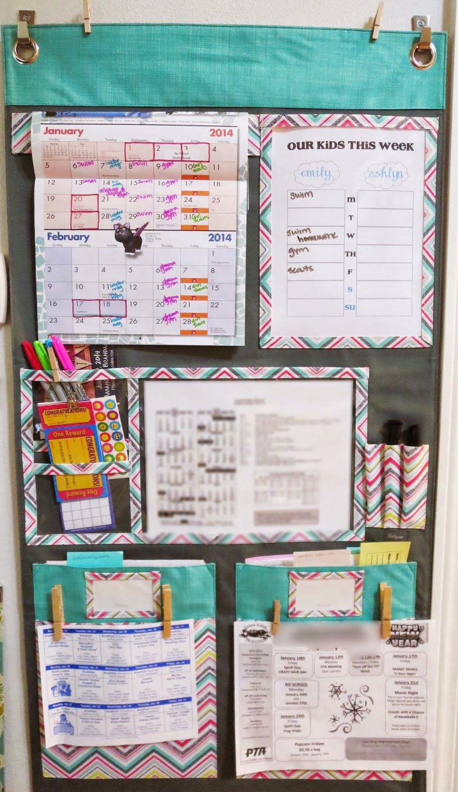 Thirty One Hang Up Home Organizer Family Command Center Family