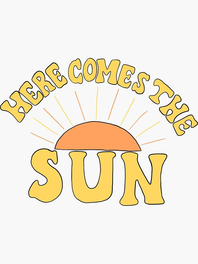 Here Comes The Sun Sticker Art Collage Wall Wall Collage Bedroom Wall Collage