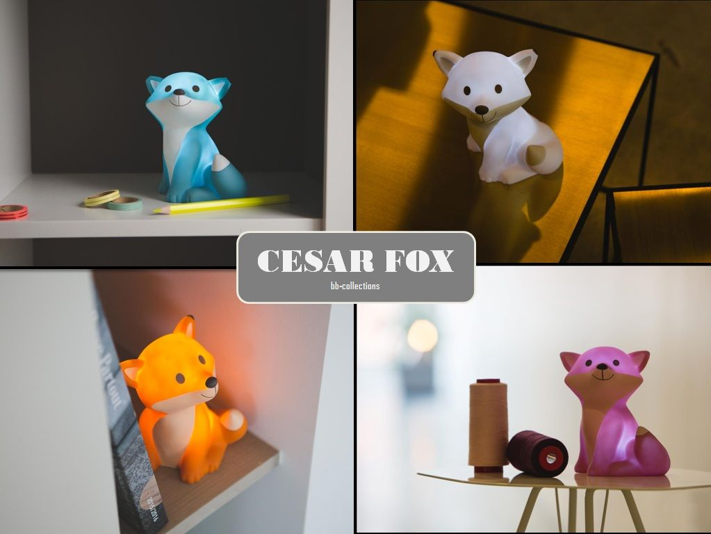 Cesar Fox  How can you not fall in love with this little guy?  At night, he will shine bright in the dark and send you to bed.  -Visit website www.qualyandco.com -Contact sales@qualyandco.com for more wholesales information and worldwide brand distribution. #atelierpierre #bbcollections #cesar #cesarfox #light #decorations #design #fox #home #homedecor #cute #children