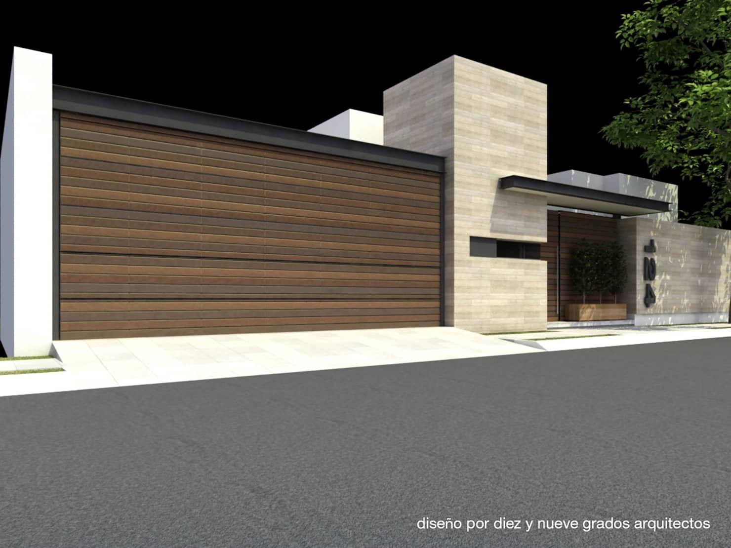 Fachada principal de estilo por diez y nueve grados arquitectos en