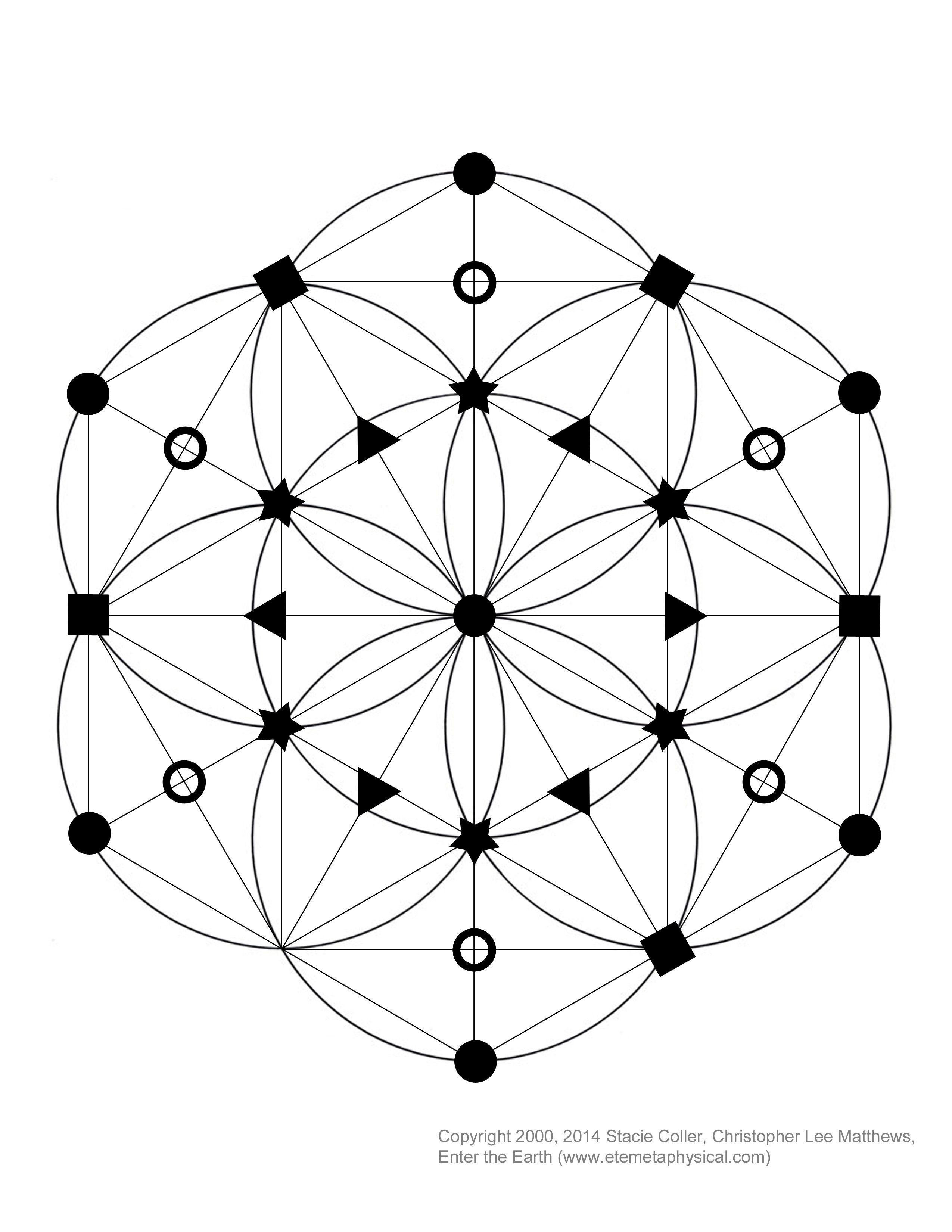 Interested in making a crystal grid This is a Seed of Life based