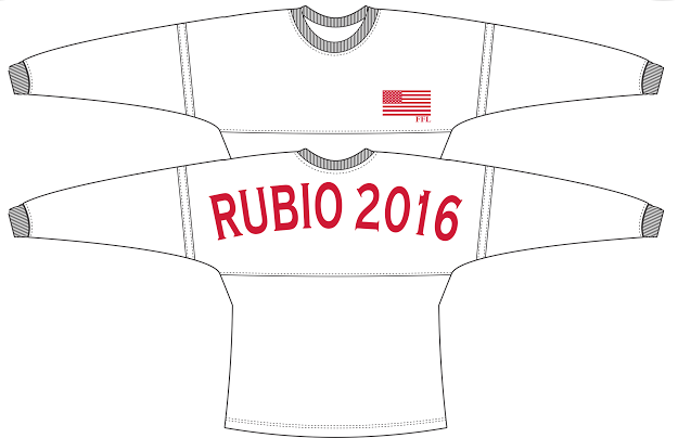 Use code sratgirlpolitics for 10% off this Rubio 2016 Long Sleeve Jersey