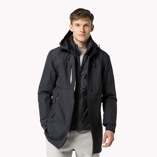 tommy hilfiger sid sport parka flag black black tommy hilfiger coats jackets main. Black Bedroom Furniture Sets. Home Design Ideas