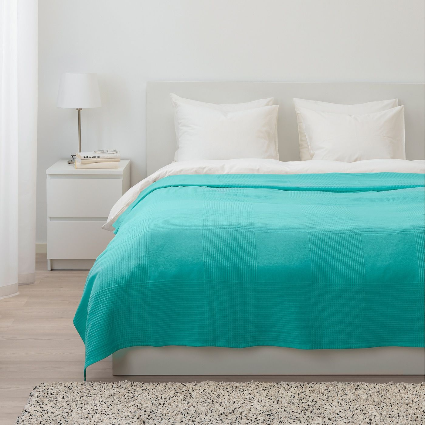 Indira Bedspread Turquoise 91x98