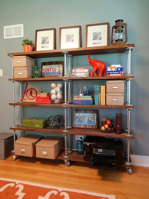 Industrial Bookshelf, I love the styling