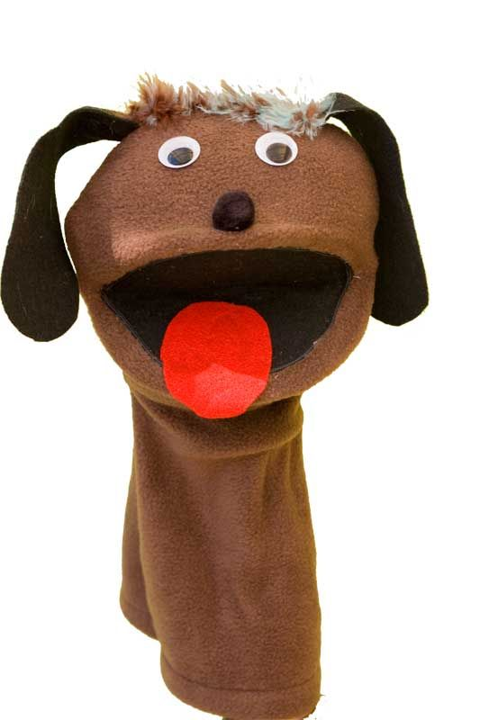Cute Brown Dog puppet by Bella Stitches
