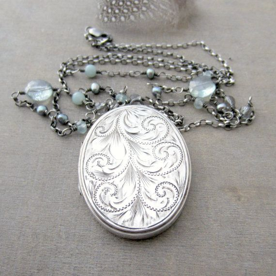 silver necklaces jewelry locket au engraved extra resg c il sterling magnificent etsy lockets vintage joseph front smith english lovely large
