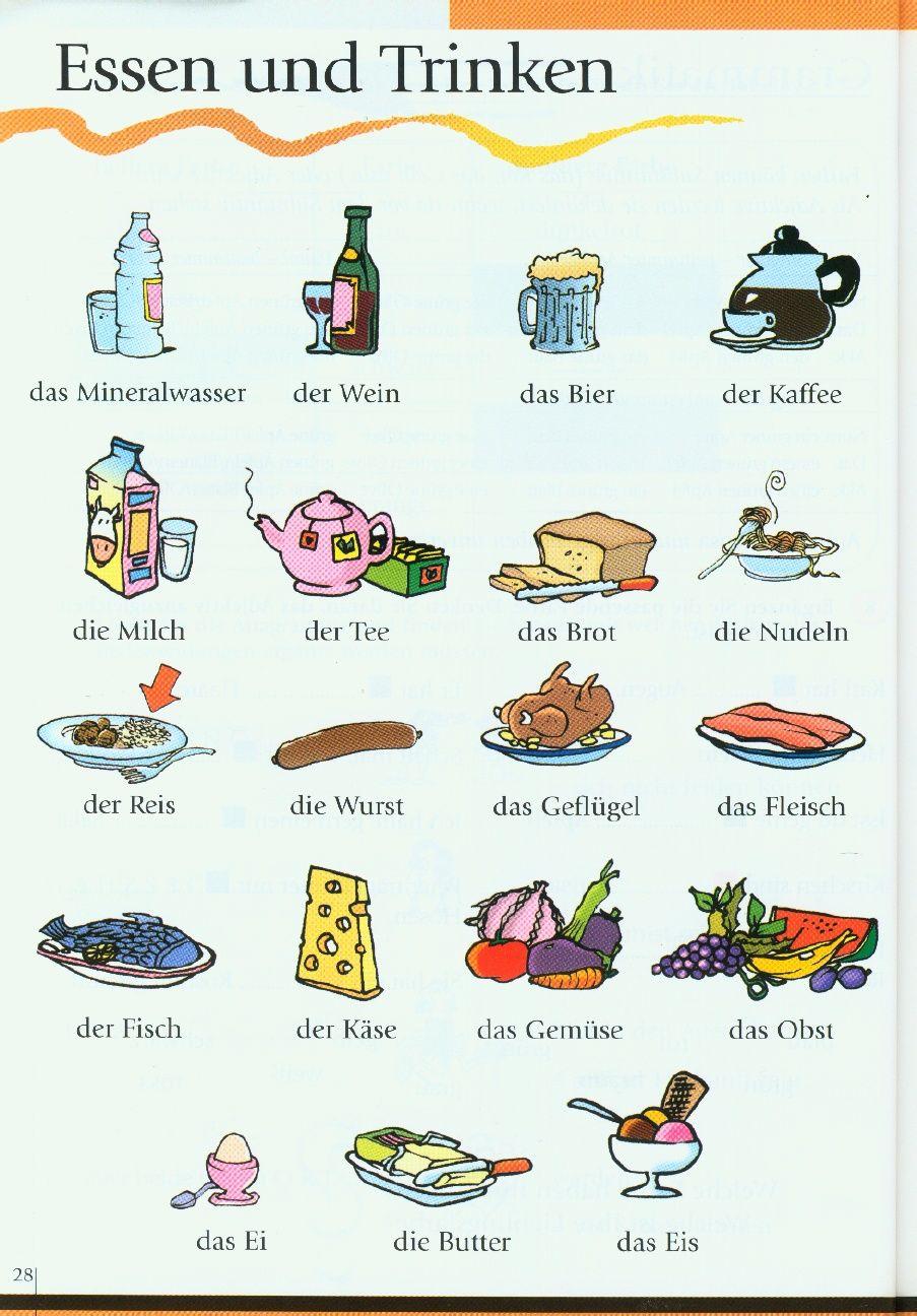 соединении немецкий лексика в картинках поверх