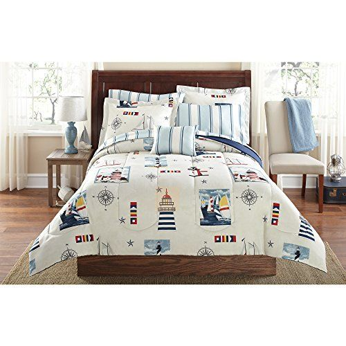Twin Comforter Sets, Nautical Bed In A Bag Queen