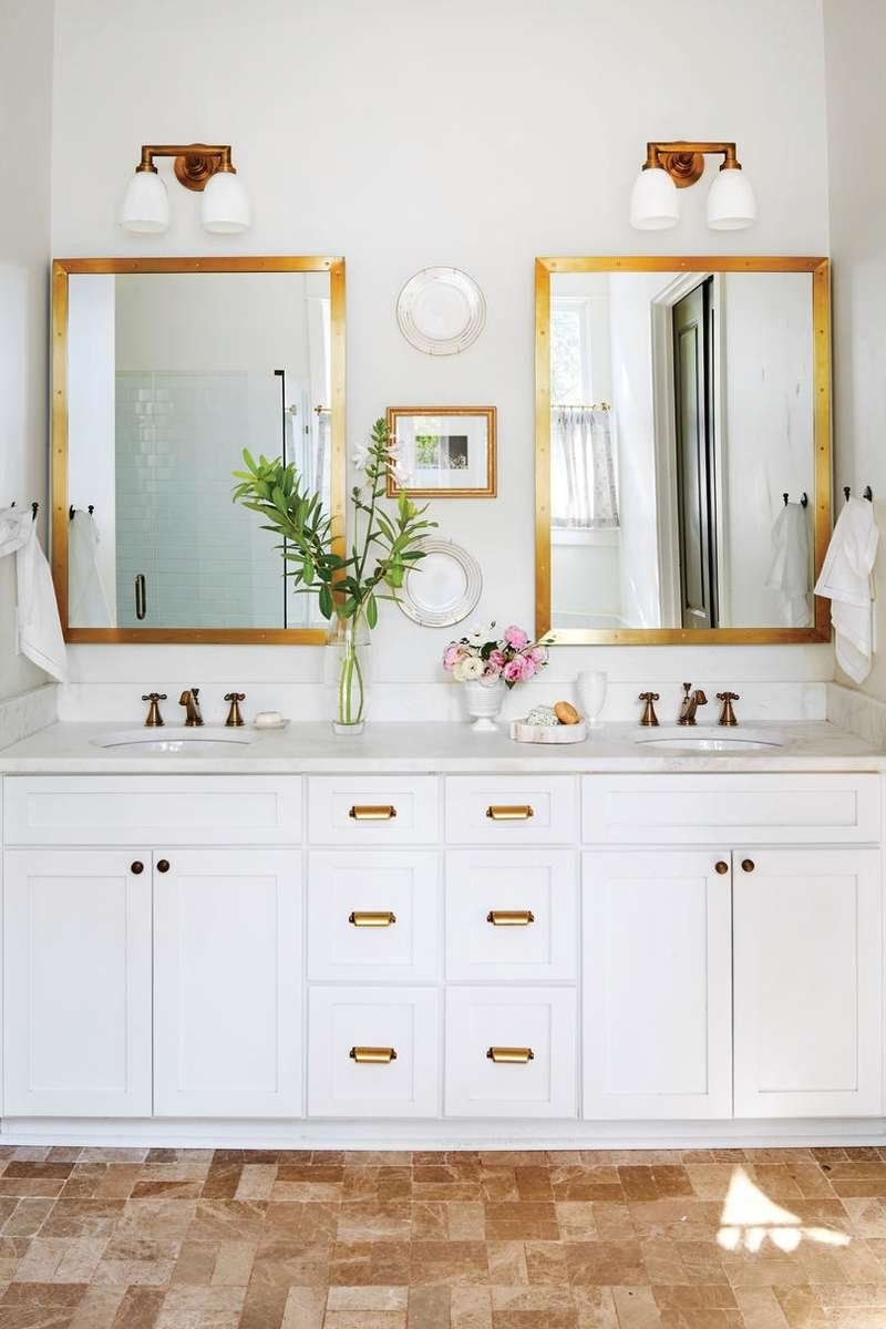 See How One Designer Moved Back Home To Build Her Dream Cottage Master Bathroom Gold Bathroombathroom Fixturesbathroom