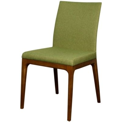 Devon Dining Ash Wood Fabric Chair Limerick Green Harrington