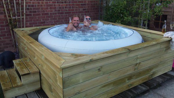 Spa Gonflable Habillage Bois Inflatable Hot Tub Lazy Spa - Google Search | Landscaping