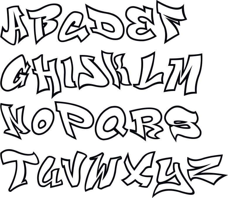 Graffiti Schrift Abc Graffiti Buchstaben A Z Graffiti Lettering Graffiti Lettering Fonts Graffiti Alphabet