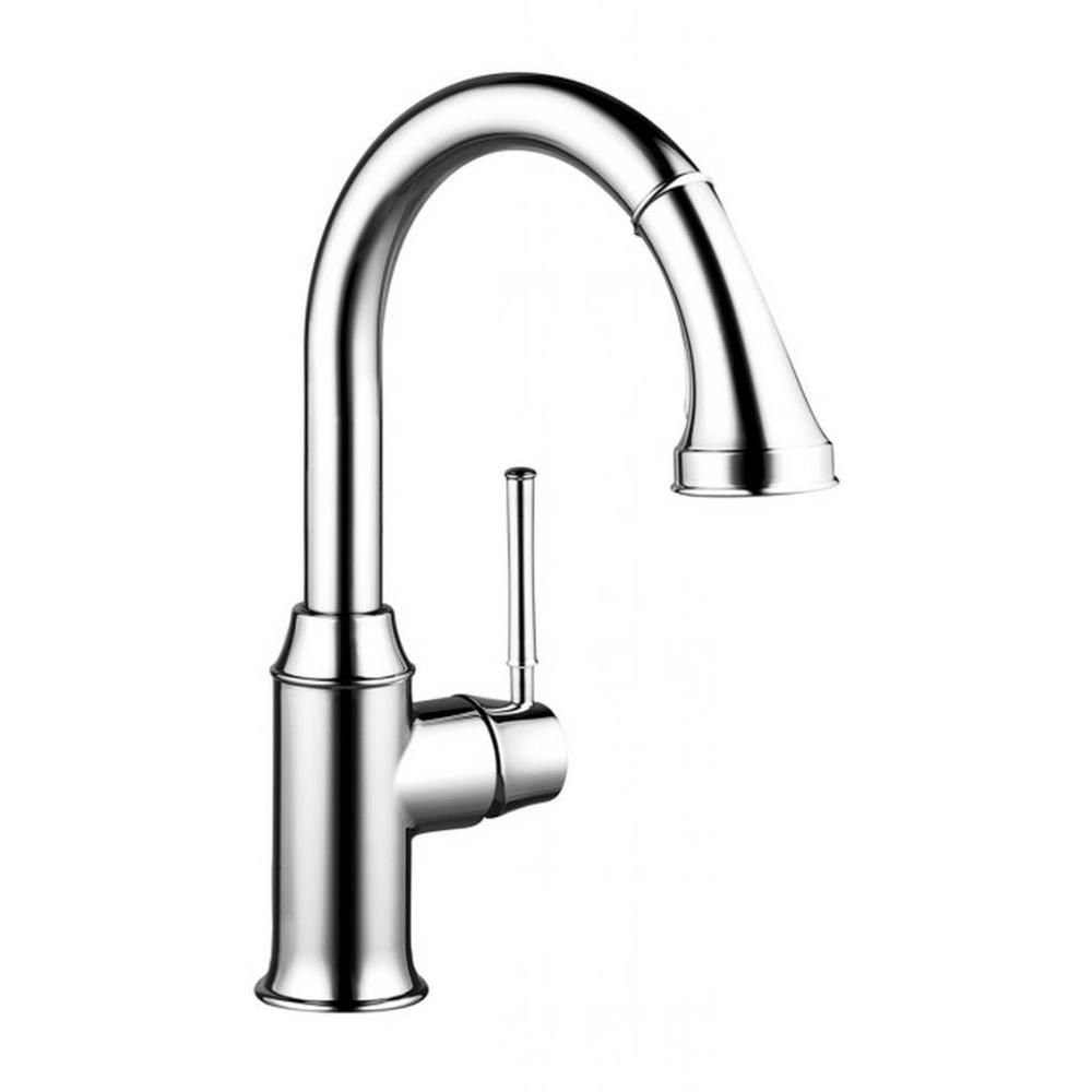 Hansgrohe talis c prep kitchen faucet with pull down chrome overstock shopping great deals on hansgrohe kitchen faucets