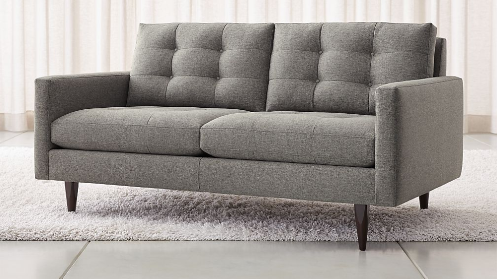 Petrie Midcentury Loveseat Reviews Crate And Barrel In 2020 Mid Century Loveseat Love Seat White Sofa Living Room