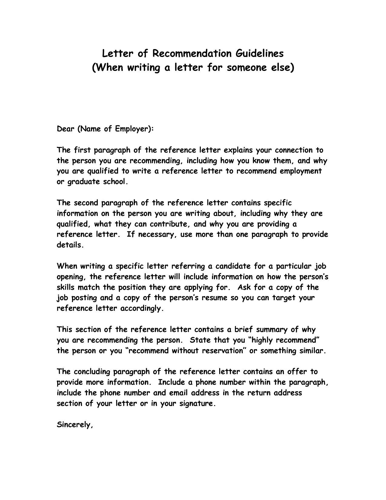 How To Write A Simple Letter Of Recommendation Free Resume Cover Letter  Examples