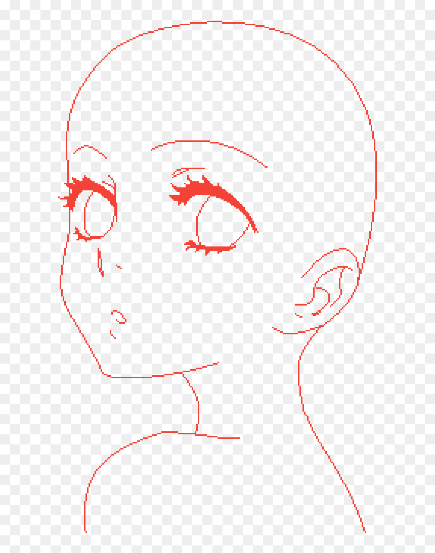 Anime Face Base Female, HD Png Download is pure and creative PNG ...