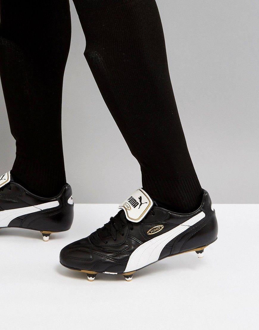 Roi Pumas Chaussures De Football Au Sol Pro Doux En Noir 17011401 - Noir Xm4XLI