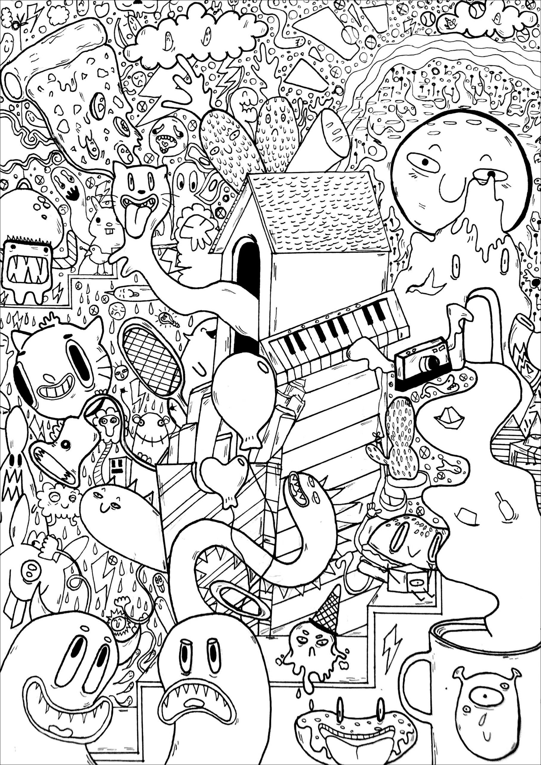 Piano Coloring Pages Keyboard Colouring Page Theory Lesson Print Keys Sheets Free Printable Notes Doodle Pizza Middle Ages Ash Pokemon Of Transformers Big