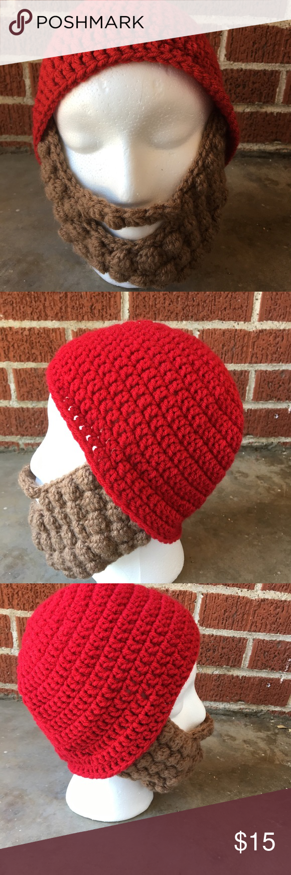 Red crochet beard hat A handmade red beard hat. Perfect for cold weather Accessories Hats #crochetedbeards Red crochet beard hat A handmade red beard hat. Perfect for cold weather Accessories Hats #crochetedbeards