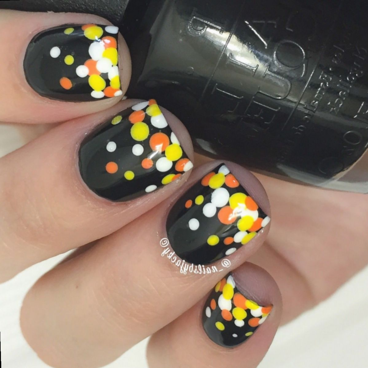 Halloween Nails Acrylic Candy Corn #aesthetic #diy # ...