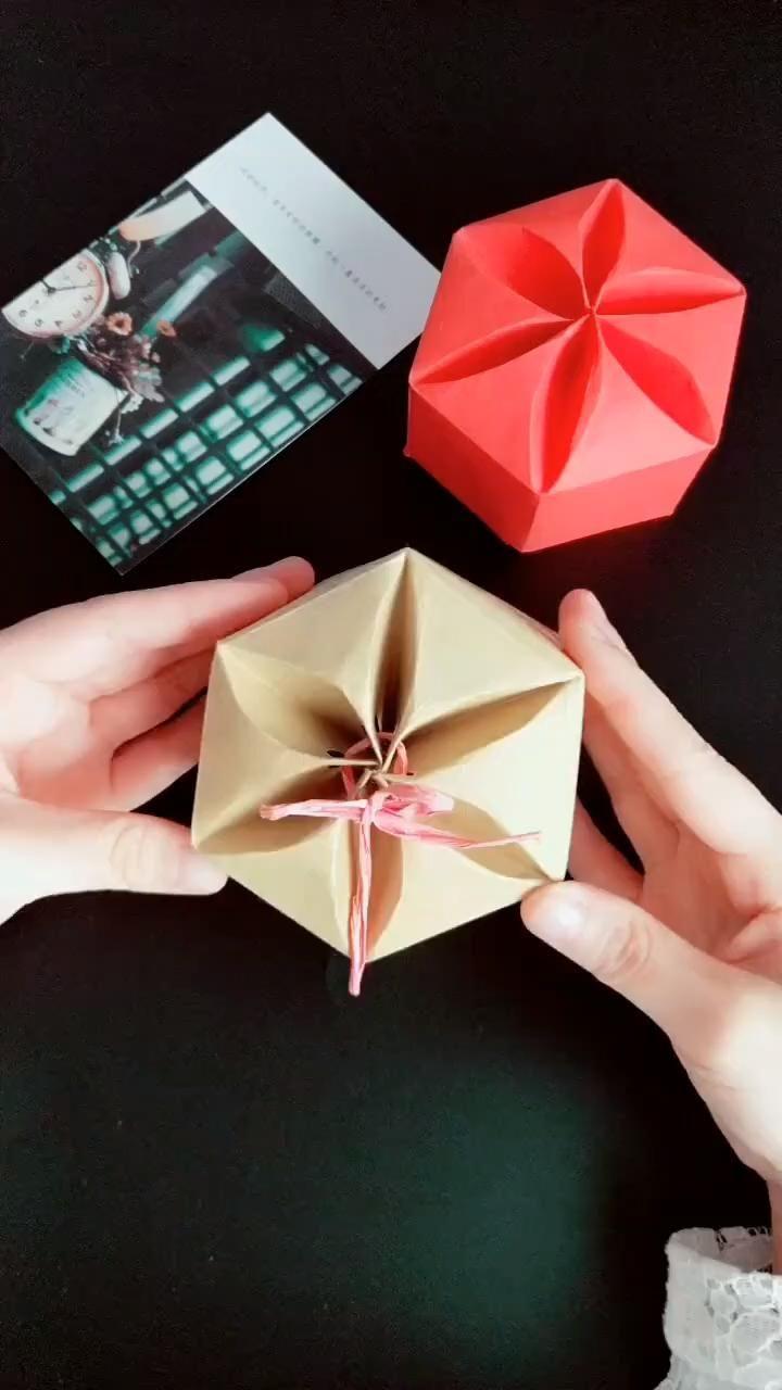 origami-DIY a paper candy box