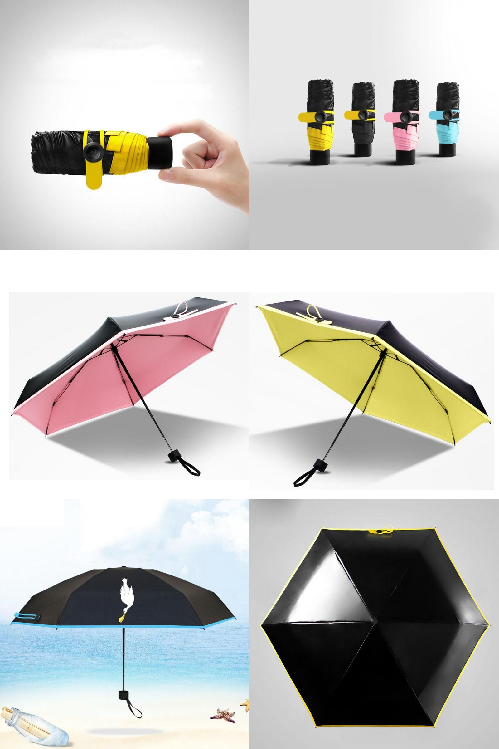 2c204b01e228 Visit to Buy] High Quality Mini Pocket Umbrella Women Sunny Rainy ...