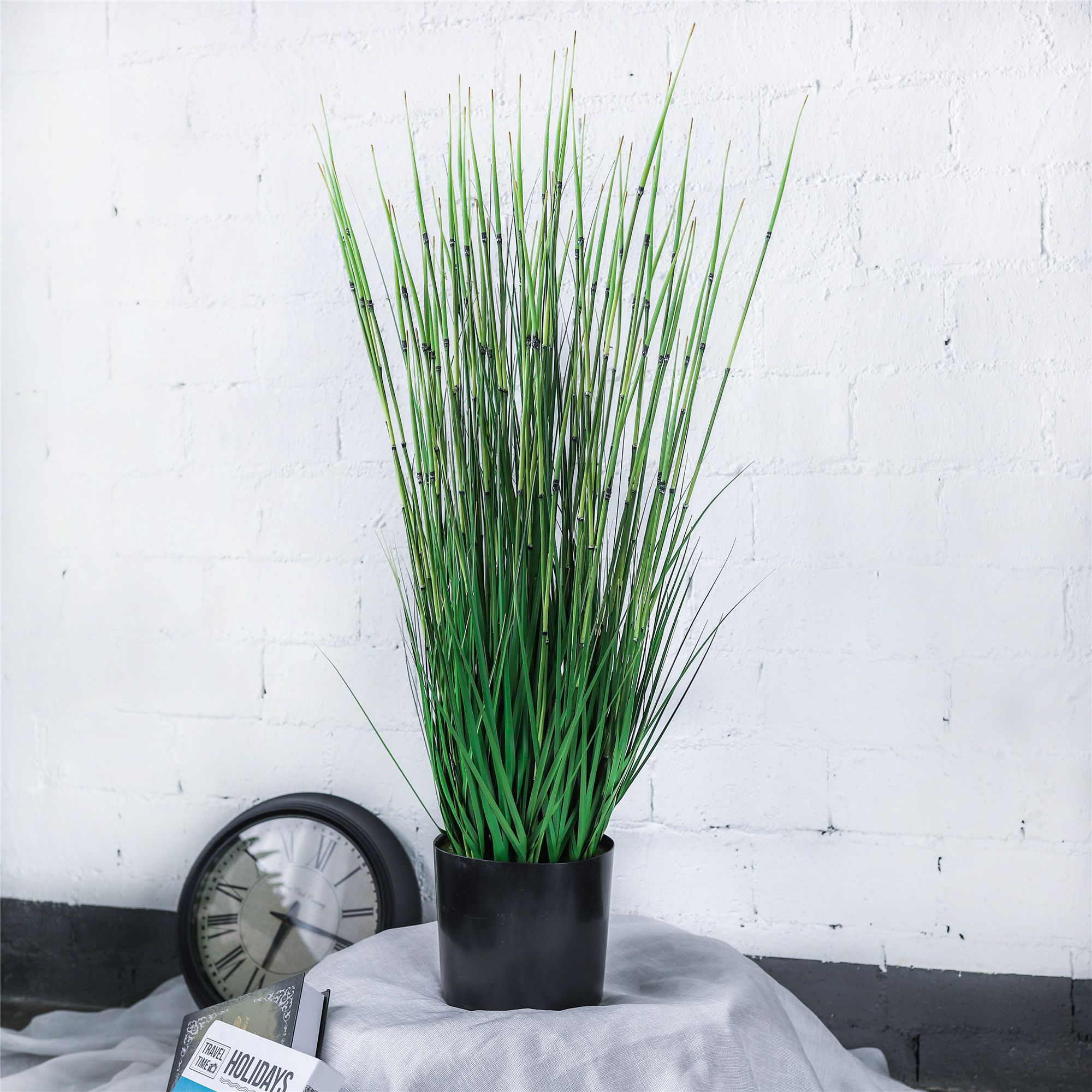 Artificial Plants For Home Decor Indoor Large Natural Looking Faux Fake Tall Rushes Gr Herb Horsetail Reed Marsh Bamboo Plant Homedecor