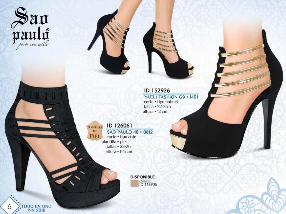 4e7ef0e0 Sandalia de vestir de la marca Sao Paulo. Zapatillas de moda en color negro.